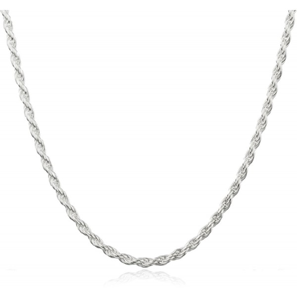 """Sterling Silver 2mm Rope Chain - Available in 7"""" to 40"""" Available (67-Y5AH-TMAS) - C111WWWCOZZ"""
