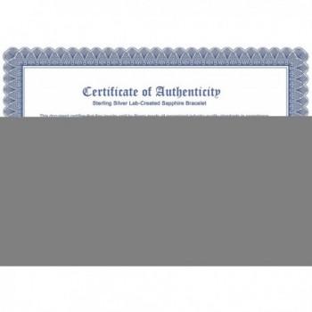 Created Sapphire Bracelet Sterling Rhodium