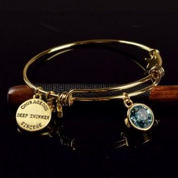 Miraclelove Bracelet Crystal Birthstone Expandable