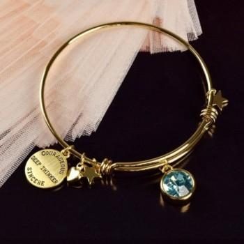 Miraclelove Bracelet Crystal Birthstone Expandable in Women's Bangle Bracelets