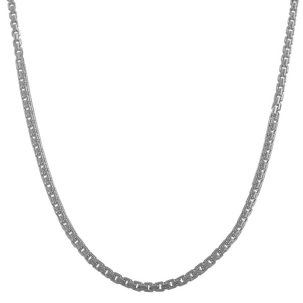 Sterling Silver 1.8-mm Diamond-cut Round Box Chain (18 Inch) - CF118DMR79V
