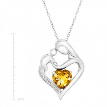 Sterling Natural Citrine Pendant Necklace in Women's Pendants