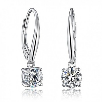 Sterling Earrings Cutting Simulated Diamonds - C4182GR46XI
