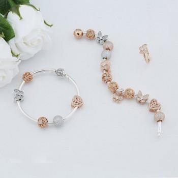 Glamulet Crystal Butterfly Sterling Bracelet