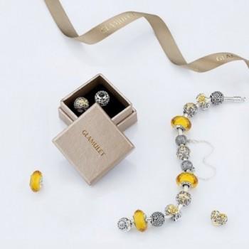 Glamulet Crystal Butterfly Sterling Bracelet in Women's Charms & Charm Bracelets