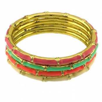 Colorful texture bangles textured bracelets