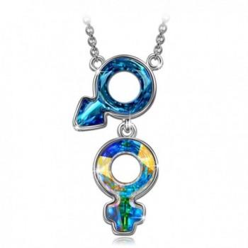 "J.NINA ""Doomed"" Romantic Design Woman Pendant Necklace- Made with Latest Cutting Swarovski Crystals - CQ17X3L07Q6"