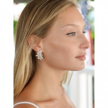 Mariell Shimmery Zirconia Occasion Earrings