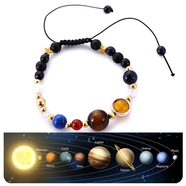 Handmade Universe Bracelets Adjustable Astronomy - Braid 2 - C1189N5GE5E
