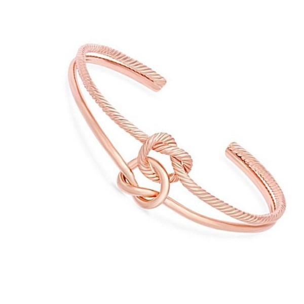 Tie The Knot Bracelet Rose Gold Love Knot Bracelet Maid Of
