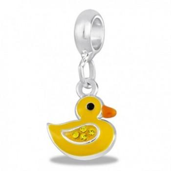 DaVinci Yellow Duck Dangle Bead - CL11P271K11