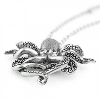 Controse Silver Toned Stainless Octopus Necklace