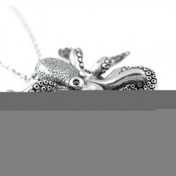 Controse Silver Toned Stainless Octopus Necklace in Women's Pendants