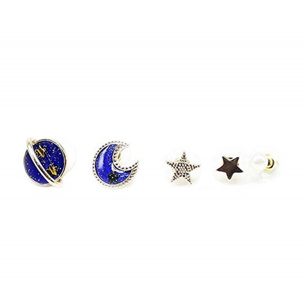 CutieJewelry Planet Star Moon Jupiter Astrology Space Earring 5 Different Earrings - CM184HQSE4G