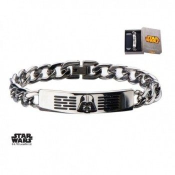 Women's Stainless Steel Star Wars Darth Vader ID Curb Chain Bracelet - CQ129HJUES9