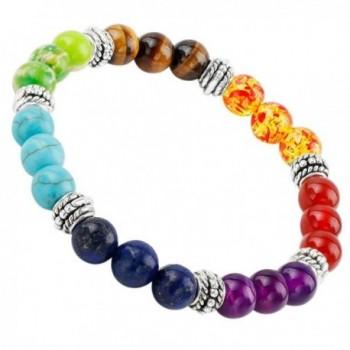 SUNYIK Semi Precious Stone Bracelet-Chakra Ctystal Healing-Balancing Reiki-Yoga Jewelry - 1-7 Color Chakra - CG12GEHFLG7