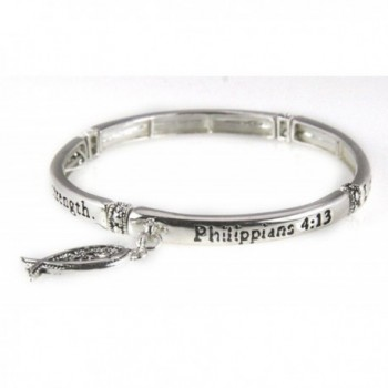 4030889 Philippians 4:13 Stretch Bracelet I Can Do All Things Through Christ Scripture - C011DRPHOCT