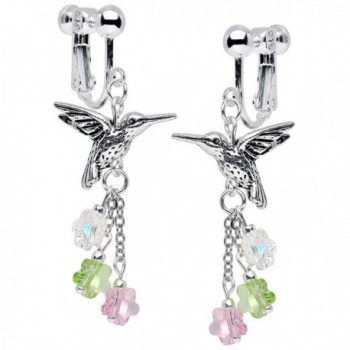 Body Candy Handcrafted Silver Plated Hummingbird Clip On Earrings Created with Swarovski Crystals - CS125Y4D0LJ