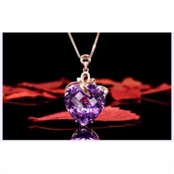 Amethyst Created Cubic zirconia Crystal Necklace