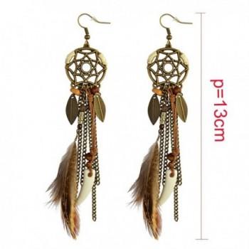 Vintage Feather Pendant Earring Earrings