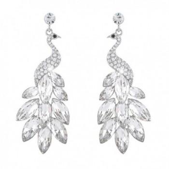 EVER FAITH Peacock Dangle Earrings Austrian Crystal - CK11PBYOA2Z
