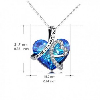 Necklace Sterling Swarovski Anniversary Girlfriend in Women's Pendants