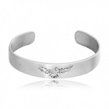 Dan's Jewelers Classic Phoenix Bird Firebird Bracelet- Fine Pewter Jewelry - CW11176H2J5