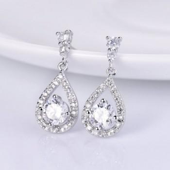 GULICX Dazzling Flawless Zirconia Earrings in Women's Drop & Dangle Earrings