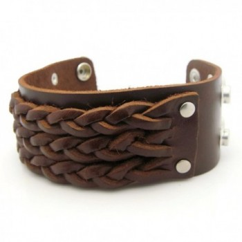 APECTO Jewelry Leather Wristband Bracelet