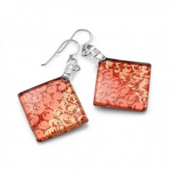 Sterling Silver Painted Murano Earrings