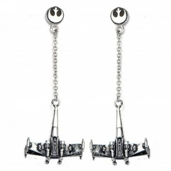 Star Wars: 3D X-Wing Dangle Earrings 316 Stainless Steel - C512GXIB6V1