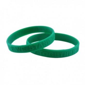 Green Awareness Embossed Silicone Bracelet Fundraiser 25 Pack - CK11DEGA2IX