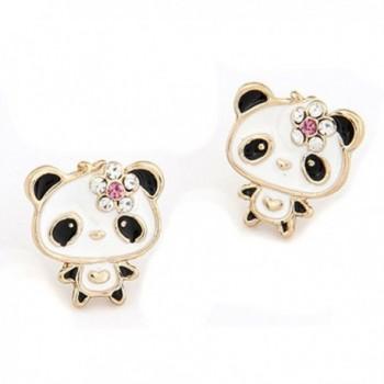 LOCOMO Women Girl Cute Animal Fox Stud Earrings JER037 - JER036s02 - CQ11YG8YWZD