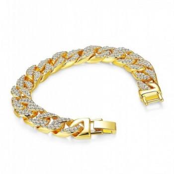 Thunaraz Womens Bracelet Rhinestones 8 5 9 5 in Women's Link Bracelets