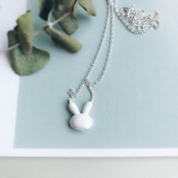 Helen Lete Frosted Sterling Necklace
