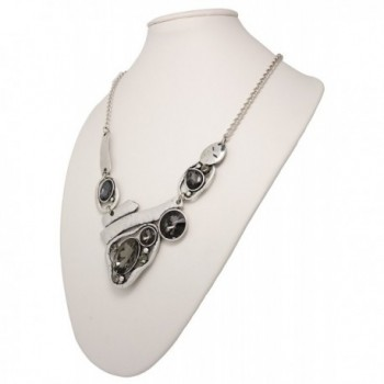 Jaysa Collection Designer Freeform Rhinestones in Women's Chain Necklaces