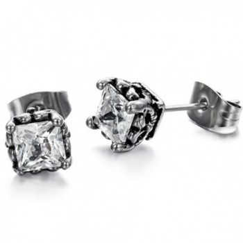 Titanium Stainless Steel Lady's Charming Stud Earring with a Gift Box and a Free Small Gift - CA11DX9JDWD