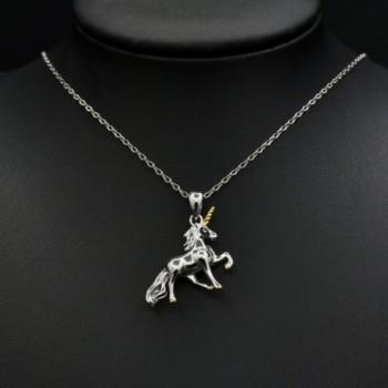 MONBO Unicorn Necklace Sterling Fairytale in Women's Pendants