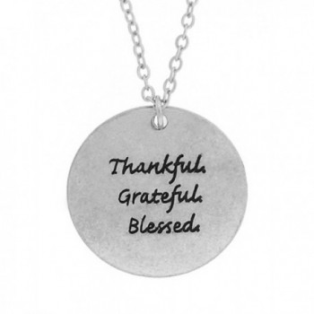 "Thankful Grateful & Blessed Charm Necklace Silver or Gold 16"" Plus Ext. Shoppingbuyfaith - CQ124LVA6PX"