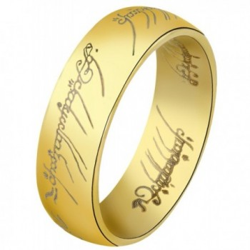 The One Ring: Yellow Gold Finish Stainless Steel - CM11N5CEIU5