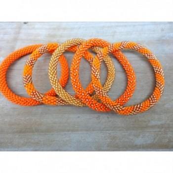 Elegant Orange Handmade Bracelets bracelet in Women's Bangle Bracelets