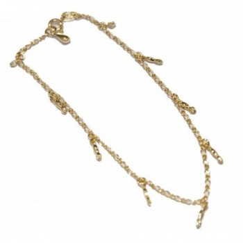 Figa Hand Charm Anklet 18k Gold Plated Anklet Foot Jewelry Chain - Figa Hand 10 inch Anklet - CU12F35HAE1
