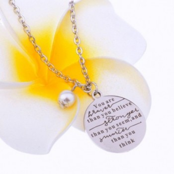 Stainless Stronger Smarter Inspirational Neckalce in Women's Pendants