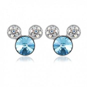 IUHA Colorful Earrings Swarovski Birthstone - aquamarine - CX18658ZLZ8