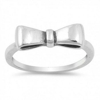 Oxidized Bow Ribbon Gift Knot Fashion Ring .925 Sterling Silver Band Sizes 4-10 - CX185CU3C02