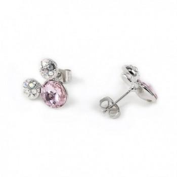 IUHA Colorful Earrings Swarovski Birthstone in Women's Stud Earrings