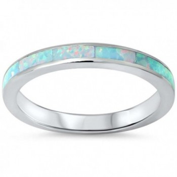 Sterling Created Eternity Wedding Stackable - Simulated White Opal - C61264TKJZ3