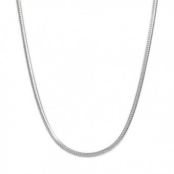 """Sterling Silver Snake Chain Necklace Solid 1.1mm Wide 16-20"""" Inch Length - CX12O3MGJ8V"""