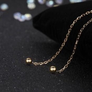 S Leaf Minimalism Threader Earrings Sterling