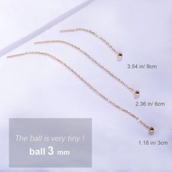 S Leaf Minimalism Threader Earrings Sterling in Women's Drop & Dangle Earrings